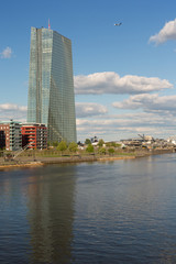 EZB / ECB European Central Bank at Main river