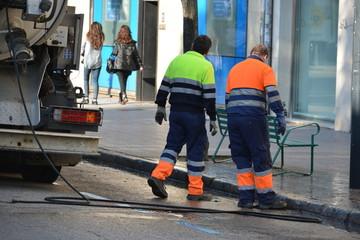 trabajos de mantenimiento y limpieza de calles