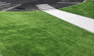 Grass and parking