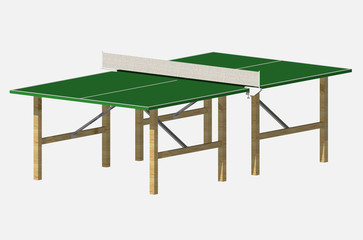 Table tennis court with shadows