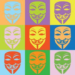 Farbige Masken