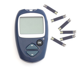 Glucometer and the test strips