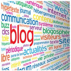 """Nuage de Tags """"BLOG"""" (réseaux sociaux forum médias actualités)"""