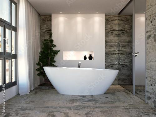 canvas print picture Bathroom in Studio Apartment