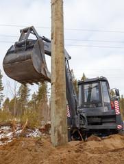 Excavator loader hydraulic tractor  digging
