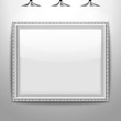 Illustration of an empty frame on a wall
