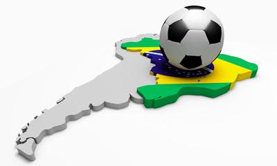 Pallone da calcio sul Brasile