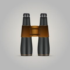 Illustration of black binoculars