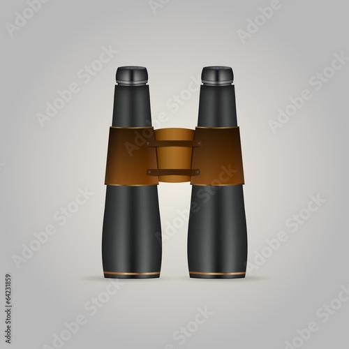 Illustration of black binoculars