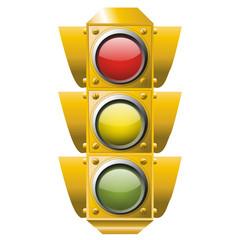 Ampel Verkehrszeichen Vektor Illustration