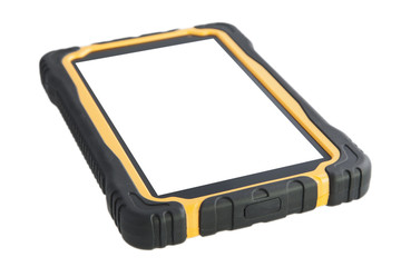 ShockProof Tablet Computer Isolated - Stock Image