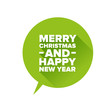 Merry Christmas and Happy new Year. Flat design vector