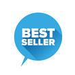 Bestseller sticker. Flat design vector