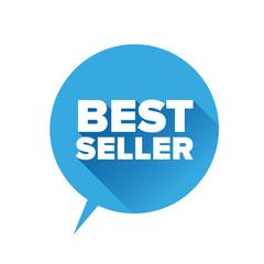 Bestseller sticker. Flat design vector