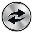 Repeat Button Icon Metal Vektor