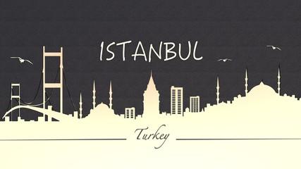 İstanbul Silueti 3D