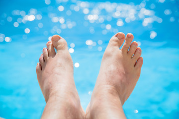 pool and feet