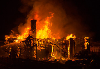 Old House Fire