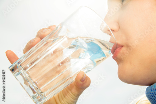 canvas print picture water drinking 2