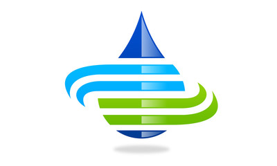 water abstract logo