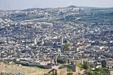 Fez general view at Morocco