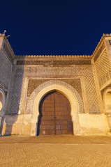 Bab Jama en Nouar door at Meknes, Morocco