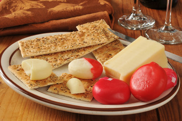 Asiago and assorted cheeses