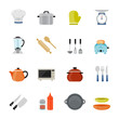 Kitchenware full color flat design icon
