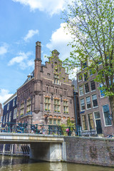 Facades in Amsterdam, Netherlands.