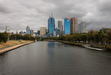 Melbourne panorama with Yarra river