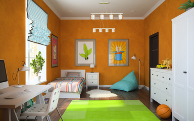 Part of interior modern childroom