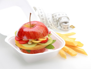 Healthy apple burger take away