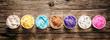 Leinwanddruck Bild - Assorted flavors of gourmet Italian ice cream