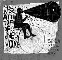 Un homme sur une bicyclette