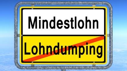 mindestlohn - lohndumping