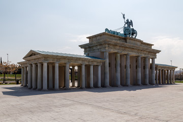 Rear view of the Brandenburg Gate