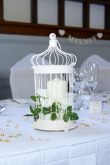 Wedding reception candle decoration