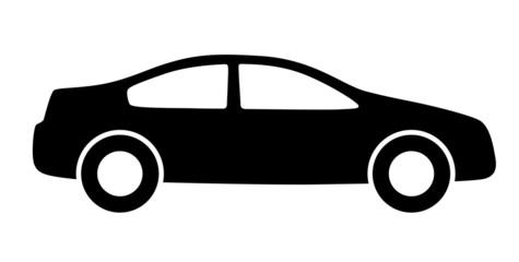 Schwarze Silhouette eines Autos von der Seite – Vektor