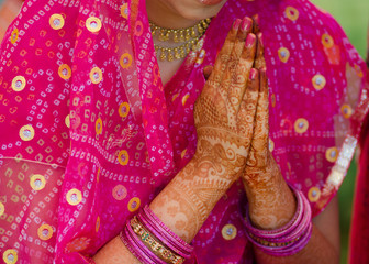 henna , saree , bride , wedding , Rajasthan, India