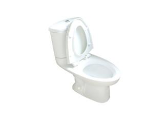 flush toilet on  white  background.