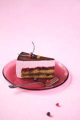 A Piece of Red Currant Souffle Cake