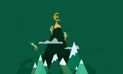 Compétition, argent, bourse, chute