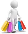 3d Männchen beim shoppen