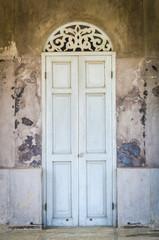 Old classic door and window