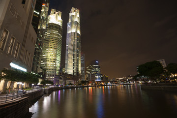 Boat Quay in Singapore