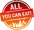 Button zerkratzt All you can eat mit flammen