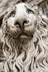 Lion Statue Cathedral St. Lawrence Genova