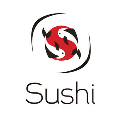 sushi fish in icon