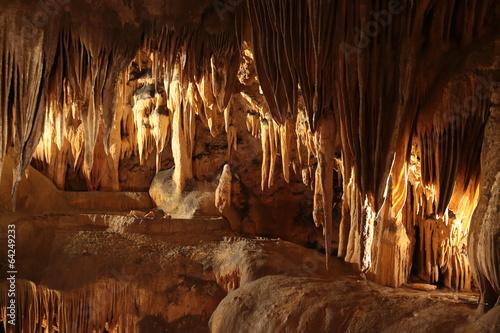 Leinwandbild Motiv Les grottes....