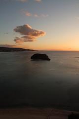 夕焼けのアルベット島